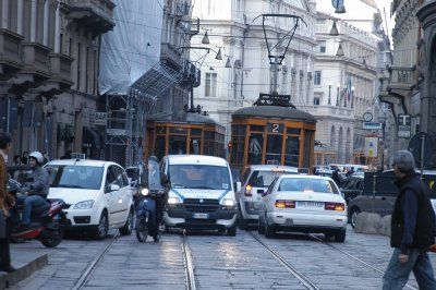 Traffic in Milan
