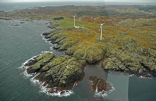 Island of Utsira, Norway - wind mills