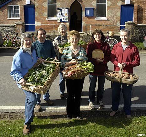 martin villagers Village of Martin, grows its own food