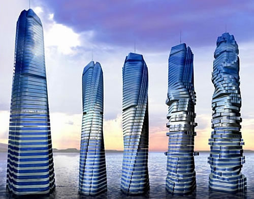 Wind-Powered Rotating Skyscraper in Dubai. Dr. David Fisher is the designer