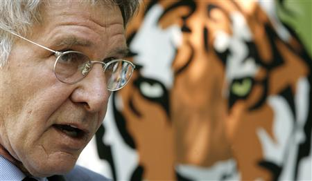 Harrison Ford supports the Tiger Conservation Initiative
