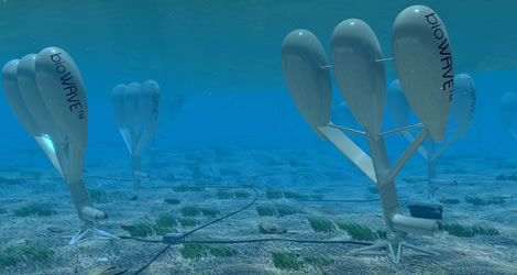underwater wave turbines