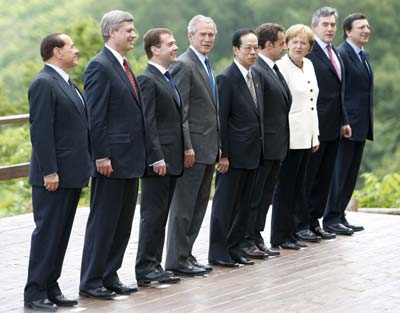 g 8leadersjapan G 8 Wants to Halve Emissions by 2050