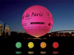 helium balloon for air pollution levels in paris Air Pollution Levels in Paris   Displayed on a Helium Balloon