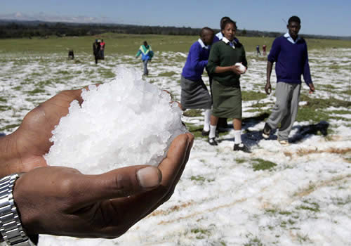 hailstorm kenya 1 Global Cooling in Kenya?