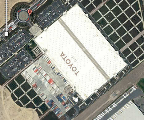 toyota california plant with solar roof Toyotas 242,000 Square Feet Solar Power Array