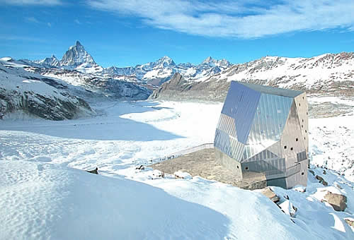 solar powered monte rosa alpine hut Monte Rosa Alpine Hut Turned Solar Powered