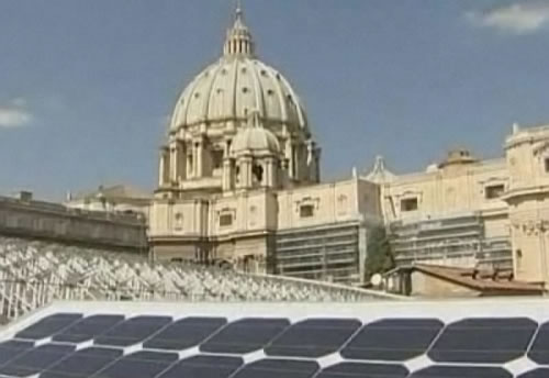 vatican installs solar powered roofs 1 Photovoltaic Solar Panels on Vaticans Roof