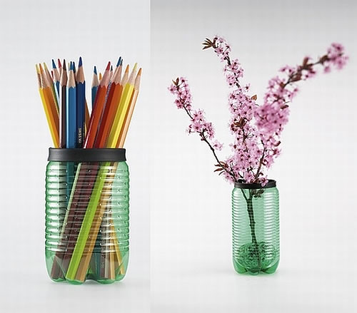 pet recycled vases How to Recycle PET Bottles, the Stylish Way