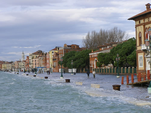 venice flood december 2008 Venice Faces Worst Flooding in Two Decades   Climate Change Blamed