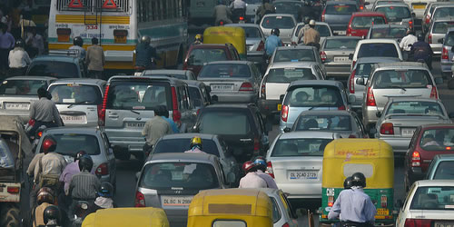 india traffic jam India Warns the Developed World Against Green Protectionism