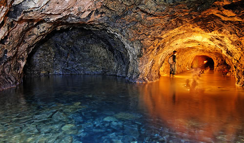 flooded mine with water Canada mapping out underground water