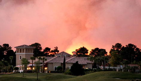 smoke caused by myrtle beach fires South Carolina Wildfires Hit Myrtle Beach, Get Out of Control
