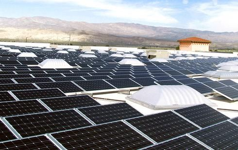 solar instalation at sams club in california Wal mart plans to double solar energy use