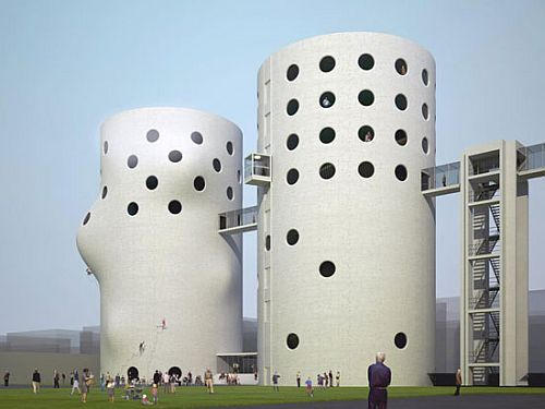 amsterdam silos turned into a gym 1 Proposal to turn Amsterdam's abandoned sewage treatment silos into climbing gym, turned down