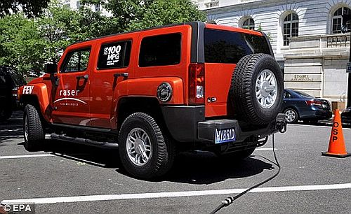 eco friendly electric powered hummer 1 Hummer's Eco friendly Hybrid Model