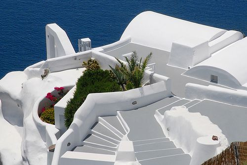 santorini island greece the most beautiful white architecture Painting the World White Should Counter Global Warming, Steven Chu Thinks