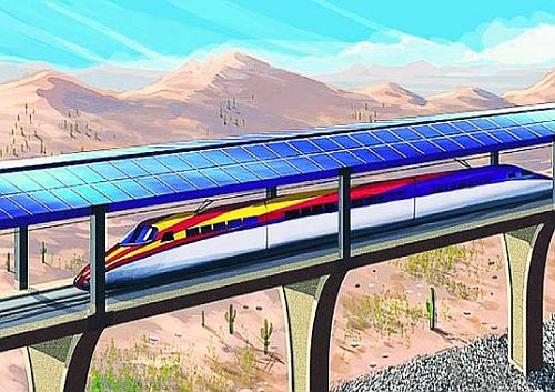 solar bullet train 1 220mph Bullet Train Juiced up using Solar Energy