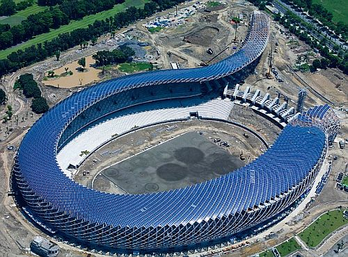 solar powered dragon stadium in kaohsiung taiwan 1 Solar powered dragon stadium in Taiwan