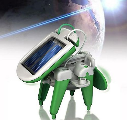 solar powered robot 2 The Solar Powered 6 in 1 Robot   an Entertaining Option