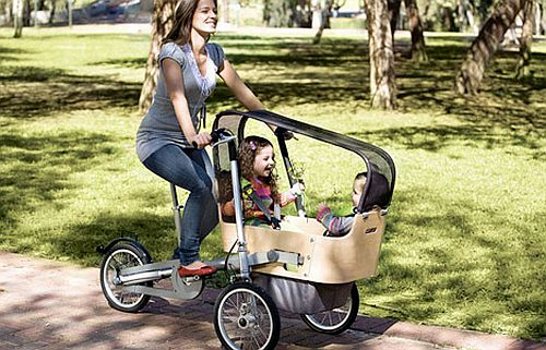 The Taga Stroller And Tricycle Folded Into One