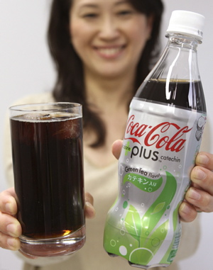 Coca-Cola plus Catechin - contains green tea extracts and is zero calorie