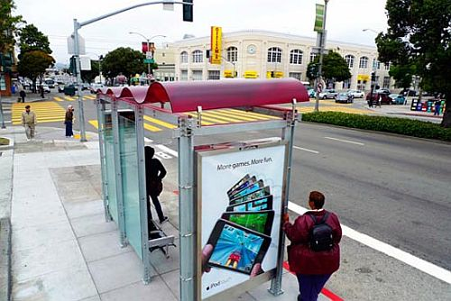 San Francisco Solar Powered Bus Shelter With Wi-Fi
