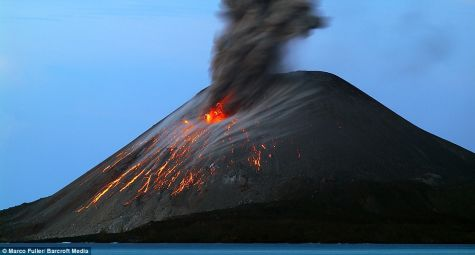 Krakatoa Volcano Sundra Strait  Krakatoa Volcano ready to unleash after a gap of 126 years