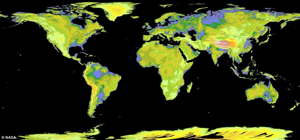 NASA complete terrain map of Earth 1 NASA's breakthrough terrain map depicts 99% of Earth's surface