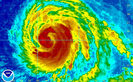 hurricane.bill.update Hurricane Bill update: Now category 4 and getting stronger