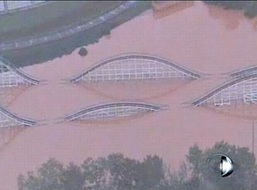Six Flags Under Water 1 Six Flags Under Water due to Flooding in Atlanta