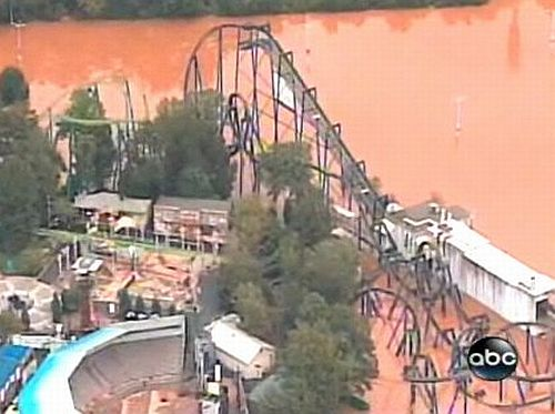 Six Flags Under Water 2 Six Flags Under Water due to Flooding in Atlanta