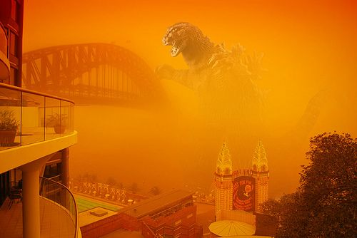 Sydney Red Dust Storm 1 Sydney Shrouded by Worst Dust Storms in 70 Years
