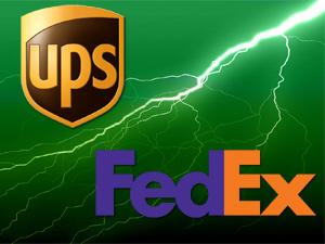 ups fedx FedEx and UPS Battling For Green Rankings
