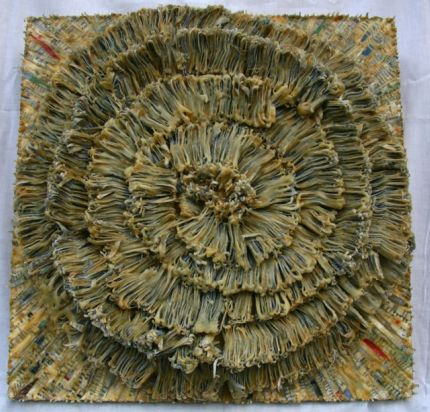 Spiraling Costs Crimmins Recession Inspires Artist Jaynie Crimmins to Create with Shredded Paper and Beeswax