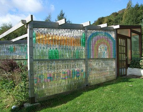 Recycled bottle screen