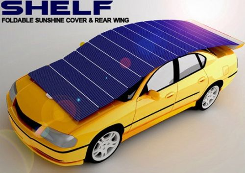 solar shelf 1 Solar Shelf Concept Generates Power and Protects Your Car