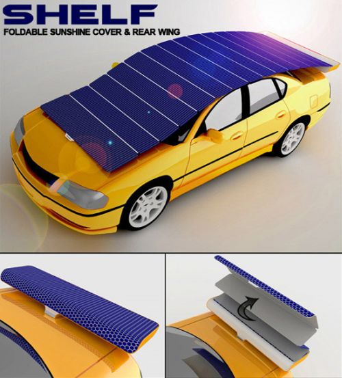 solar shelf 2 Solar Shelf Concept Generates Power and Protects Your Car