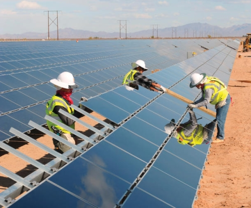 FirstSolarNRG 610x505 First Solar Opens Power Plant in California