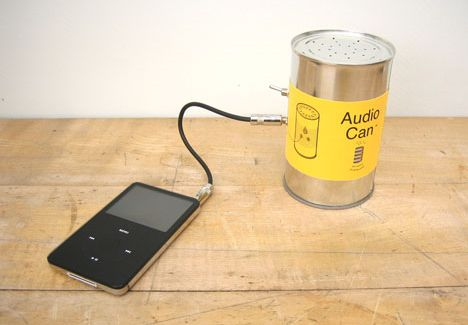 audio can Plain old Cans Upcycled Into Speakers