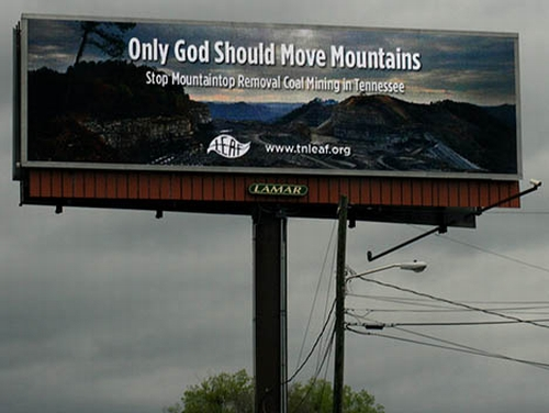 20100107 mountaintop removal billboard Scientists Call for a Stop to Mountaintop Removal Mining