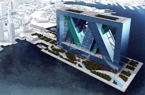 Boston Arcology 1 BOA Floating City Proposed for Boston