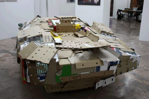 lamborghini cardboard sculpture2