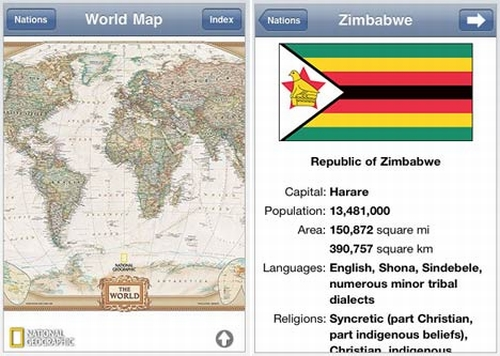 natgeo map app National Geographic Releases World Atlas App for the Apple iPhone