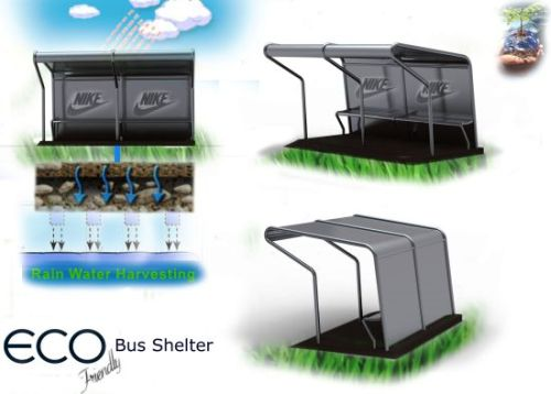 rain water harvesting bus shelter Design Proposes Adding Rain Water Harvesting System to Bus Shelters