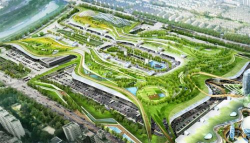 seoul green roof Designers Propose Giant Solar Roof for Seoul