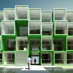 shipping container housing 150x150 Student Housing Made From 100 Recycled Shipping Containers