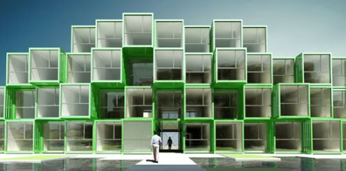 shipping container housing Student Housing Made From 100 Recycled Shipping Containers
