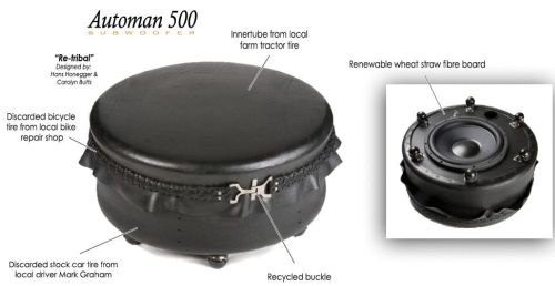 automan 500 subwoofer2 Automan 500 Subwoofer Makes Sound From Discarded Tires