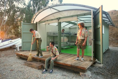 eco cabin1 Camp Emerald Bay Scouts Get Cabins in Environmental Shades